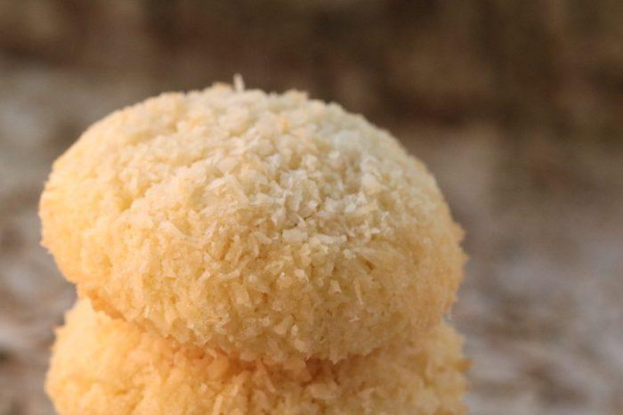 Französische Plätzchen mit Kokos.