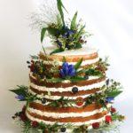 Hochzeitstorte als naked cake