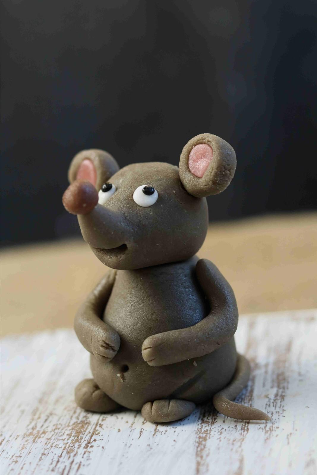 von Hand modelierte Maus