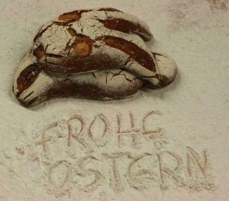Osterhase aus Brotteig
