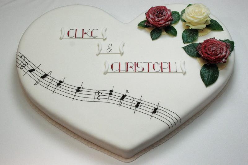 Hochzeitstorte Mit Melodie Cafe Schonleben