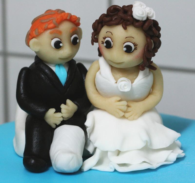 Brautpaar aus Marzipan