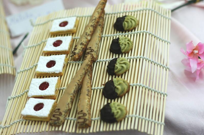 Japanische grüne Teeplätzchen