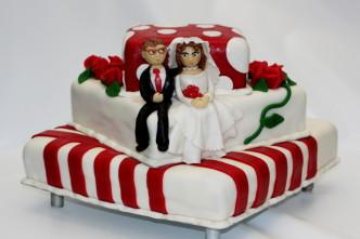 Hochzeitstorte viereckig